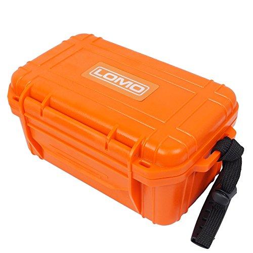 Construcción de plástico ABS resistente. Interior acolchado. Mantiene seco tu equipo. Dimensiones: 170 x 113 x 85 mm. Incluye junta tórica