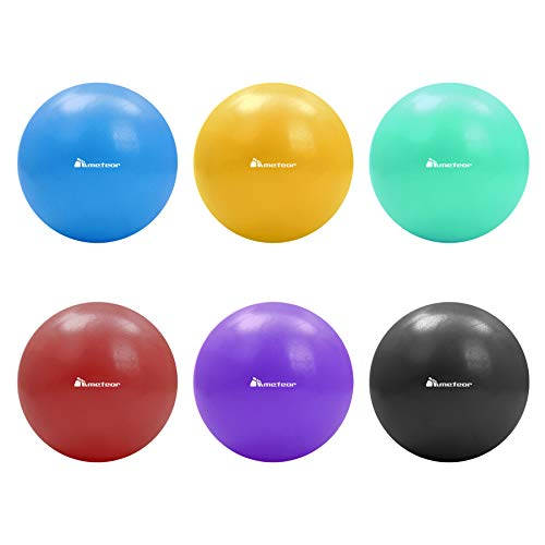 Meteor 20CM Mini Anti-Burst Stability Ball for Pilates, Yoga, Pelvic Health, Physio Therapy, Relaxation, Posture Correction - Burgandy from Gym Mart