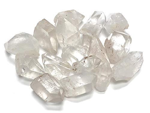 Zentron Crystal Collection: Natürliche klare Quarz-Steine, 2,5 cm bis 3,8 cm, mit Samtbeutel (1,4 kg)