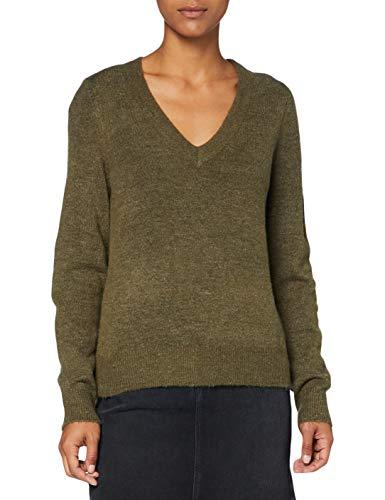Only ONLCORINNE L/S V-Neck Pullover KNT Suéter, Verde Oliva, M para Mujer