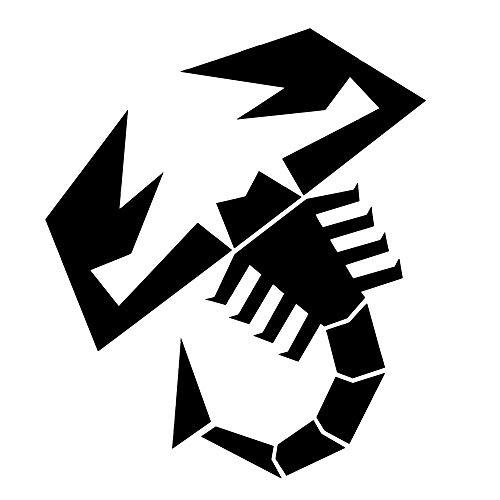 Abarth Vorgeschnittene Aufkleber Skorpion, schwarz, 240 mm