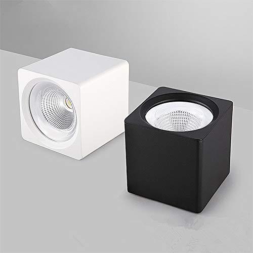 Plafondlamp plat, warm wit licht 30 W 4 inch LED-licht koele slaapkamer lamp met COB Spotlight zwart