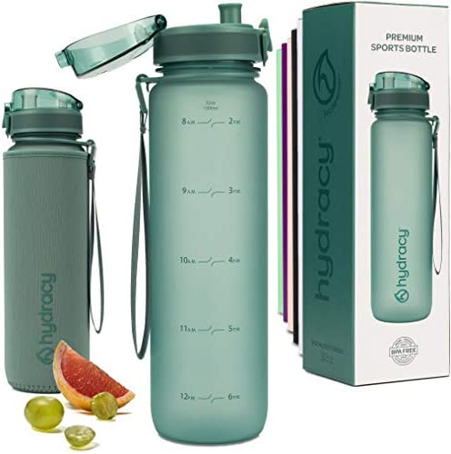 Hydracy Water Bottle with Time Marker Large 1Liter 32oz BPA Free Water Bottle Leak Proof No product image