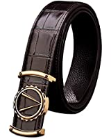 Mens Leather Belts, 100% Full Grain Cow Genuine Leather with Anti-Scratch Buckle, Elegant Gift Box, Great for Formal Suit, Jeans, Casual & Business & Work Clothing