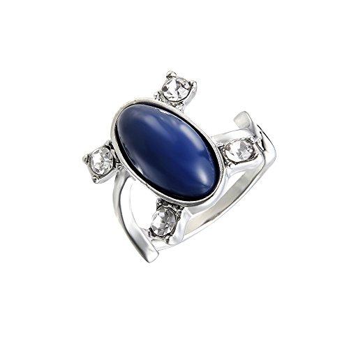 lureme® Women Herren The Vampire Diaries Elena Sapphire Kristall Daylight Ring Silber Ring-M(04001477-1)