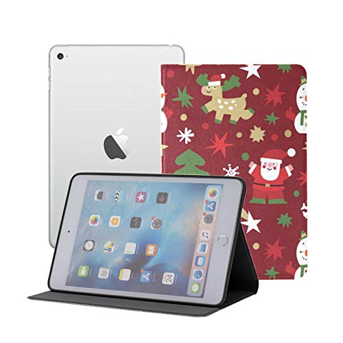 Compatible para iPad Mini 1/2/3 Funda, Slim Fit All Round Protect Cover Cute Christmas S Stand Angulos con Auto Sleep/Wake