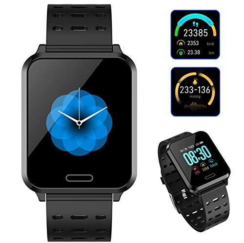 Reloj Inteligente Deportivo, Pulsera Deportiva Smartwatch 1.3 Pulgada Pantalla Grande, Fitness Tracker con Monitor de Frecuencia Cardíaca y Presión Arterial, Pulsera Actividad de IP 67 Impermeable