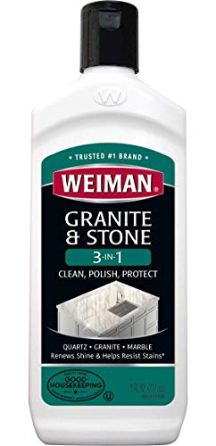 Weiman Granite Cleaner and Polish - 8 Ounce - Clean, Polish and Protect Fine Granite, Quartz, Marble, Corian and All Types of Stone Countertops