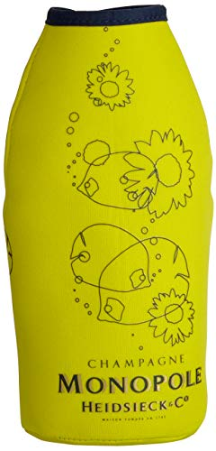 Monopole Heidsieck Blue Top Brut Champagner mit gelber Neoprenkühlmanschette (1 x 0,75 l) - 4