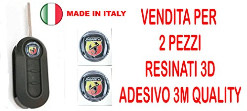 GTBTUNING 14 mm Adesivo Stickers per Chiave Logo Stemma Badge resinato Effetto 3D 3m Quality