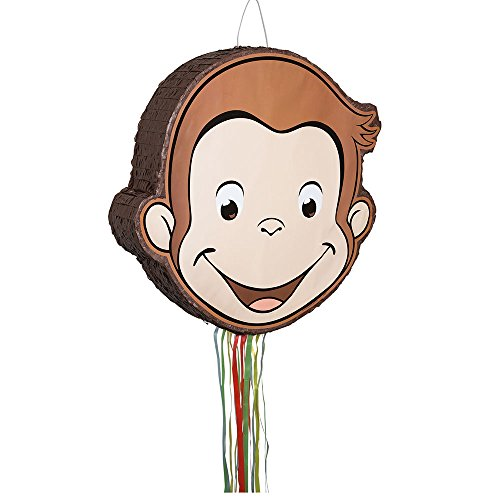 Unique Industries Curious George Pull String Pinata