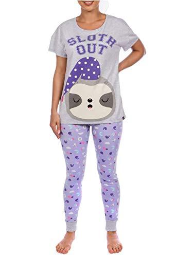 Harry Bear Pijama para Mujer Perezoso Morado Medium