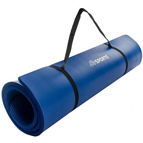 ScSPORTS® Gymnastikmatte dick & rutschfest, Yoga-Matte mit Schultergurt, 190 cm x 100 cm x 1,5 cm, universeller Einsatz im Fitnessstudio oder zu Hause (veilchenblau)