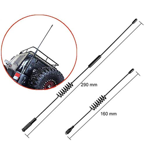 Hootracker Metal Decorative Antenna 160MM 270MM 1/10 RC Crawler Accessories Decoration for 1/10 RC Crawler Axial SCX10 90046 D110 D90 RC 4WD Traxxas TRX-4 TRX4 Car