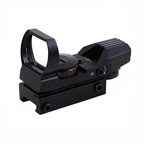 Ohuhu Red Green Dot Sight Gun Sight Scope Reflex Sight with 4 Adjustable Reticles - 4 Styles, Black