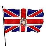 Bandera británica Bandera de jardín Bandera de interior y exterior 3 x 5 pies, Banderas de playa duraderas resistentes a la decoloración con encabezado, Fácil de usar