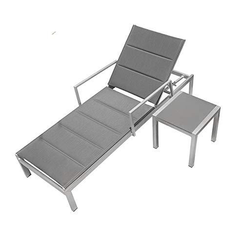 BEK Camastro Aluminio Doble Malla Reforzada para Exterior