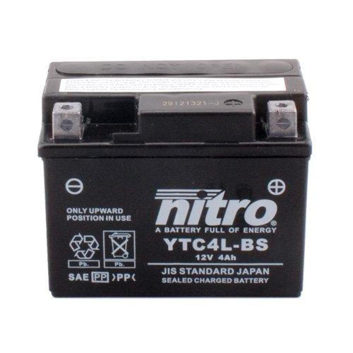 Batterie Nitro YTC4L-BS GEL, 12V/4AH (Maße: 113x70x85) für Yamaha YQ50 Aerox Baujahr 1998