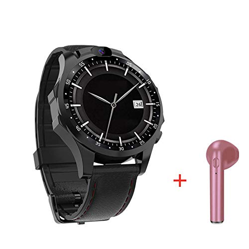 4G Smartwatch  V9 Android-Handy 1,6 Zoll AMOLed 3 GB + 32 GB 5,0 MP + 5,0 MP Kamera 800 mAh Batterie Sport Smart Watch Männer wasserdicht 1 GB 16 GB Blackaddheadset