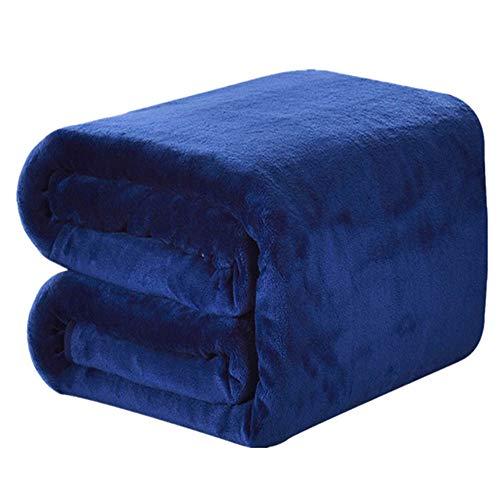 DREAMFLYLIFE Luxury Fleece Blanket Winter Thick Blanket Super Soft Blanket Bed Warm Blanket Couch Blanket Dark Blue King-Size, 90x108 in