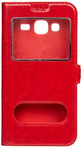 iPOMCASE Coque Décrochage Appel pour 5' Samsung Galaxy J3 2016, Rouge
