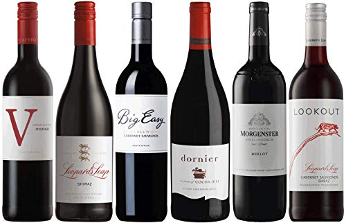 Weinpaket Rotwein aus Südafrika | Probierpaket mit Rotweinen aus Südafrika (6 x 0.75l) | Trocken | Weine für jeden Geschmack von CAPREO