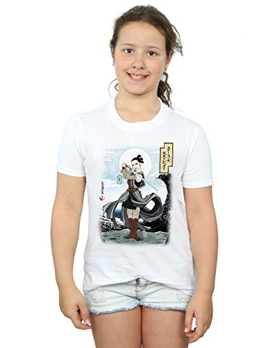 Star Wars Mädchen The Last Jedi Japanese Rey T-Shirt 5-6 Years Weiß