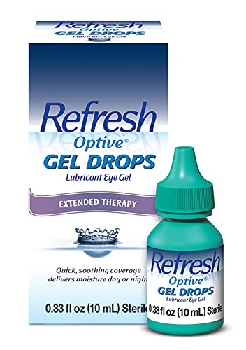 Refresh Optive Gel Drops Lubricant Eye Gel, 0.33 Oz Sterile
