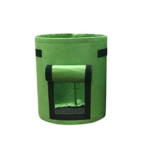 VOANZO 3 Stück grüne Kartoffeltaschen Klettfenster Gemüsetaschen für Kartoffeltomaten und anderes Gemüse Atmungsaktives Vliesstoffgewebe - 7 Gallonen