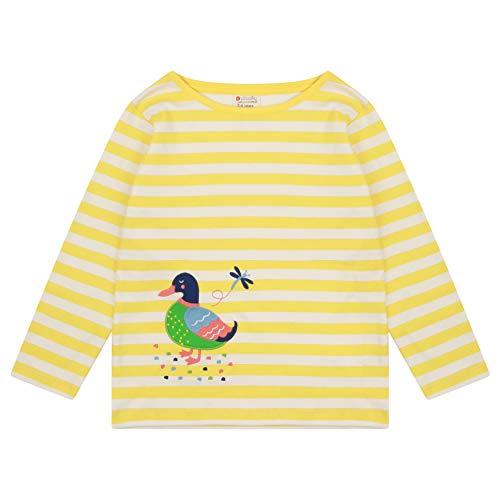 Piccalilly Haut à rayures jaunes pour enfants, manches longues, canard appliqué, 6-12 mois - 10 ans - Jaune - 24 mois