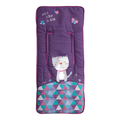 Babyline Kitty - Colchoneta ligera para silla de paseo, color morado