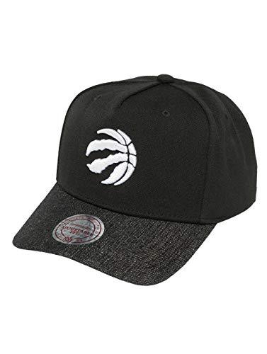Mitchell & Ness Homme Casquettes / Casquette Snapback & Strapback NBA Denim Visor Toronto Raptors noir Réglable