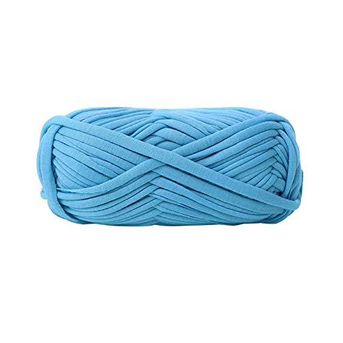 dljztrade breien draad meerdere kleuren handgemaakte doek DIY gevlochten tapijt handtas jassen garen Lichtblauw meer