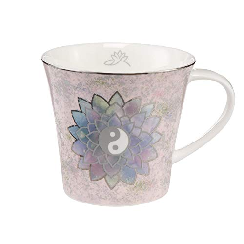 Goebel Lotus Becher Tasse Lotusblüte rosa mit Platinauflage Porzellan 350ml WA