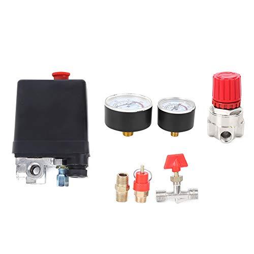 Interruptor de control de presión - Válvula de interruptor de control de presión de 4 orificios para piezas de ensamblaje de reguladores de colector de compresor de aire
