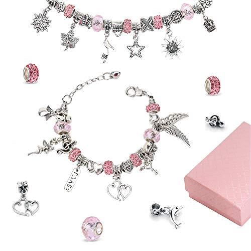 Linkbro DIY Armband Mädchen Geschenke für Armband, DIY Handwerk, Fußkettchen, Geschenk Mädchen 8-12 Jahre, Schmuckherstellung liefert, Schmuck-Geschenk-Set für Jugendliche
