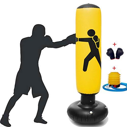 JAB Boxsack Stehend Inflatable,Verdickte Fitness Ziel Tumbler Spalte Sandbag for Kinder Erwachsene Kinder Teens Druck Entlasten Bodybuilding Fitnesstraining 160cm,mit Pumpe