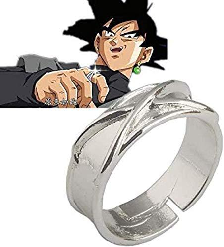 LWH-MOU Dragon Ball Z Dark Goku Time Ring Cosplay Prop Black Gogeta Modelo Toy Anillo Ajustable