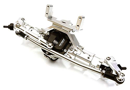 Integy RC Model Hop-ups OBM-1630SILVER Complete 4-Link Front Axle w/Internals for Axial SCX-10 & Custom 1.9 Crawlers