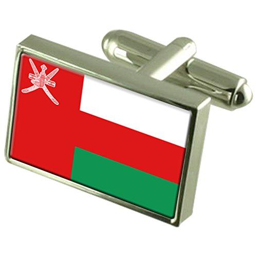 Boutons de manchette Drapeau Oman Sterling Silver