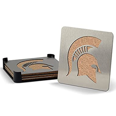 NCAA Michigan State Spartans 4-piece Boaster Drink Coaster