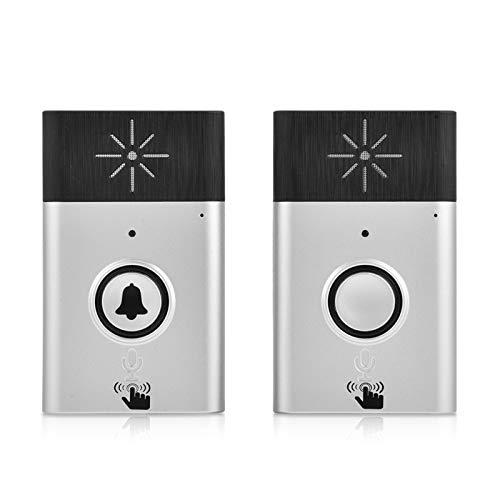 Mini intercomunicador de voz portátil de dos vías de 2,4 GHz, sistema de timbre de puerta inalámbrico, con transmisión suave, distancia de transmisión de 300 m, intercomunicador de doble vía, modo de