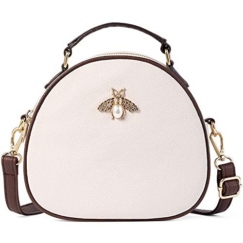 Lekesky Small Cross Body Bag Women Over Body Circle Bag PU Leather Handbags...