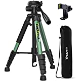 """Endurax 66"""" Video Camera Tripod Compatible with Nikon Canon, Tall Tripods for All Digital Cameras with Universal Phone Mount and Carry Bag"""