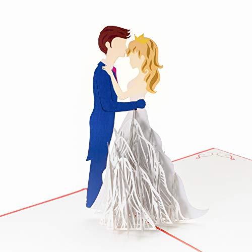 PrimePopUp | Liebeskarte | Tanzendes Liebespaar | romantische 3D Pop Up Karte | besondere Hochzeitskarte | Geschenk für Freundin Freund | Geburtstagskarte | Ich liebe Dich Karte für Sie & Ihn