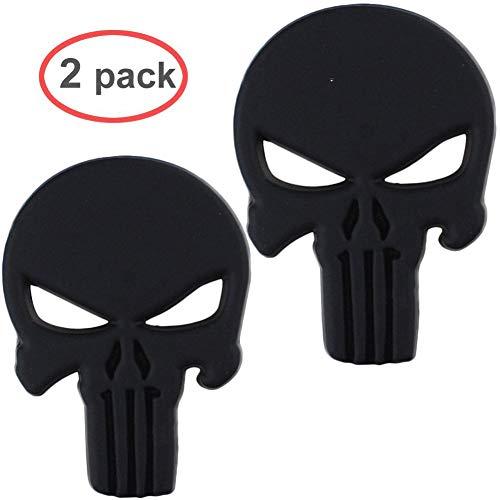 Electrely Punisher 3D Metall Aufkleber Auto Sticker Autosticker Autoaufkleber Decal War Zone Totenkopf Skull (2 Pcs)
