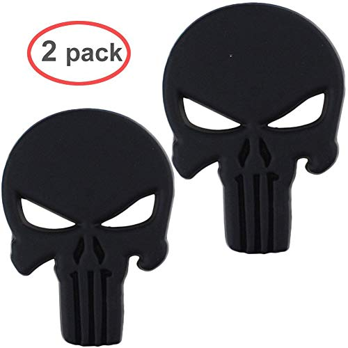 Electrely Punisher 3D Metall Aufkleber Auto Sticker Autosticker Autoaufkleber Decal War Zone Totenkopf Skull (2 Pcs)