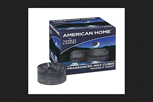 American Home By Yankee Candle Blue Tea Light Candles Moonlit Night Scent 12 count