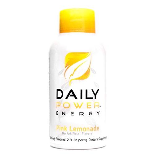 DailyPower Energy Shot - 220mg of Natural Caffeine - 12 Count (Pink Lemonade)