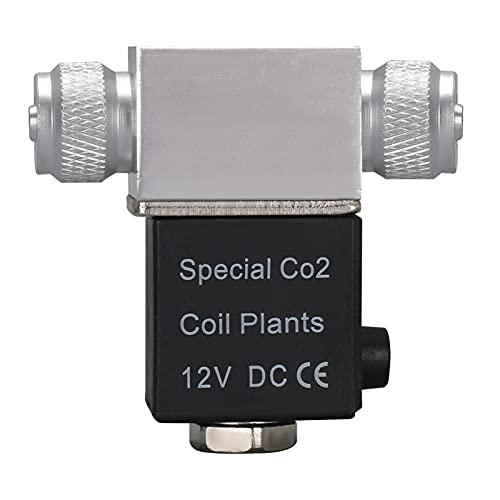 Decdeal Aquarium CO2 Magnetventil CO2 System Regler Niedrigtemperatur Magnetventil für Aquarium Wasserpflanze Wachsen